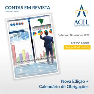 Revista Contas Nova Edição Eletrônica: Outubro/Novembro'20 + Calendário de Obrigações